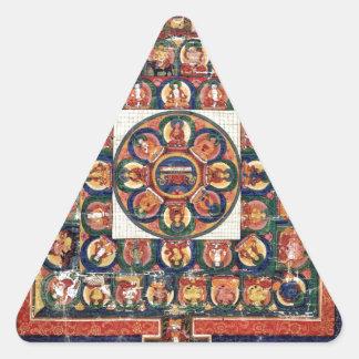 Medicine Buddha Triangle Sticker