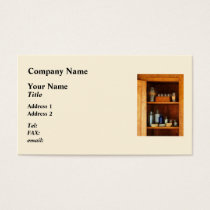 Medicine Cabinet with Asthma Medication Business Card