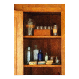 Medicine Cabinet with Asthma Medication 5x7 Paper Invitation Card
