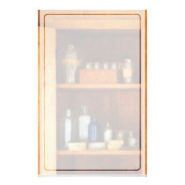 Medicine Cabinet with Asthma Medication Stationery