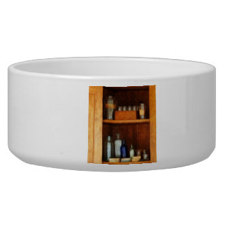 Medicine Chest with Asthma Medication Bowl