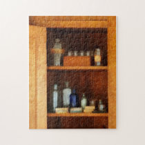Medicine Chest with Asthma Medication Jigsaw Puzzle