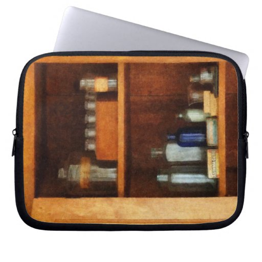 Medicine Chest with Asthma Medication Laptop Sleeves