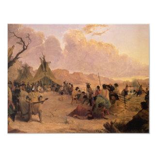 "Medicine Dance by Eastman, Vintage Native American 4.25"" X 5.5"" Invitation Card"