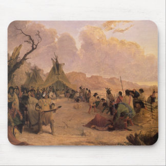 Medicine Dance by Eastman, Vintage Native American Mouse Pad