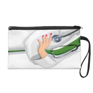Medicine Female  Doctor Bagettes Bag Wristlet Purse