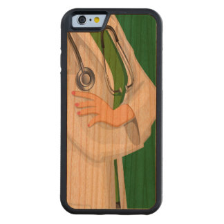 Medicine Female Doctor Nurse Carved Cherry iPhone 6 Bumper Case