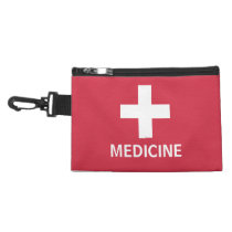 Medicine First Aid Symbol Red Medical Kit Accessory Bag