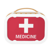 Medicine First Aid Symbol Red Medical Kit Lunch Box