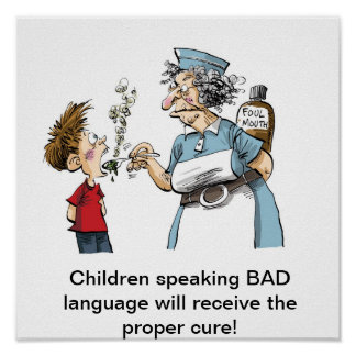 Medicine for BAD language! Poster
