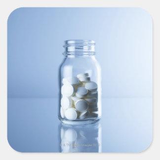 medicine in the bottle square sticker