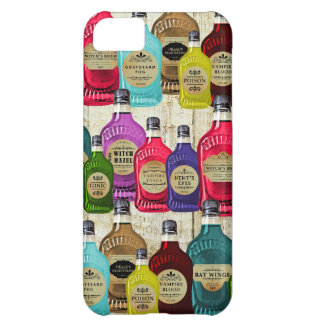Medicine Man Magic Potion Apothecary Tonic Bottles Cover For iPhone 5C