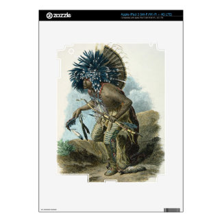 Medicine man of the Mandan tribe in the costume of iPad 3 Skins