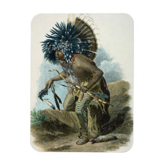 Medicine man of the Mandan tribe in the costume of Magnet