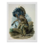 Medicine man of the Mandan tribe in the costume of Poster