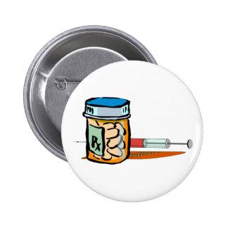 Medicine pills syringe pellet syringe button