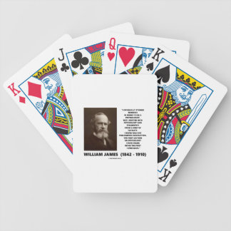 Medicine Psychology Philosophy William James Quote Bicycle Playing Cards