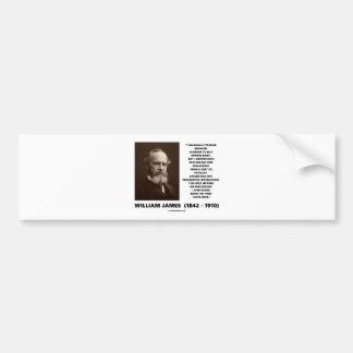 Medicine Psychology Philosophy William James Quote Bumper Sticker