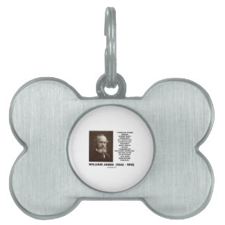 Medicine Psychology Philosophy William James Quote Pet Name Tags