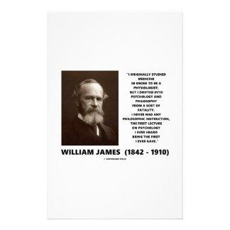 Medicine Psychology Philosophy William James Quote Customized Stationery