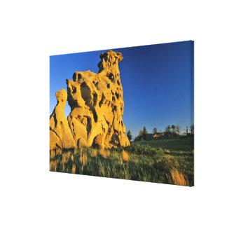 Medicine Rocks State Park near Ekalaka Montana Canvas Print