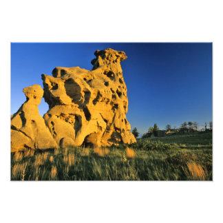 Medicine Rocks State Park near Ekalaka Montana Photographic Print
