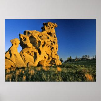 Medicine Rocks State Park near Ekalaka Montana Poster