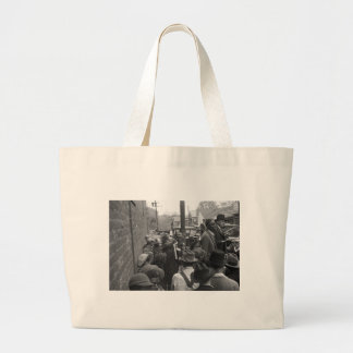 Medicine show - Huntingdon, Tennessee: 1935 Large Tote Bag