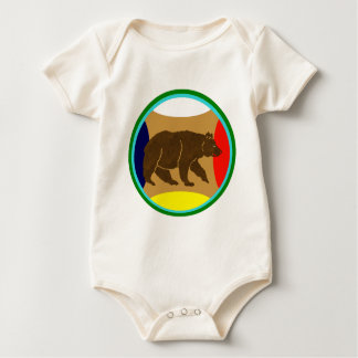Medicine Wheel Bear Baby Bodysuit