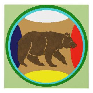 Medicine Wheel Bear Panel Wall Art