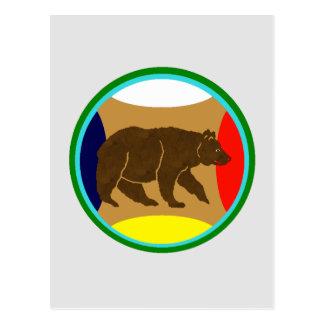 Medicine Wheel Bear Postcard