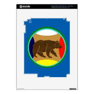 Medicine Wheel Bear Skin For iPad 3