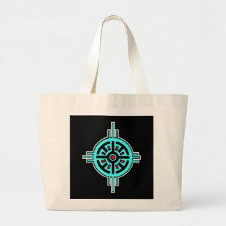 Medicine Wheel-Black Tote Bag