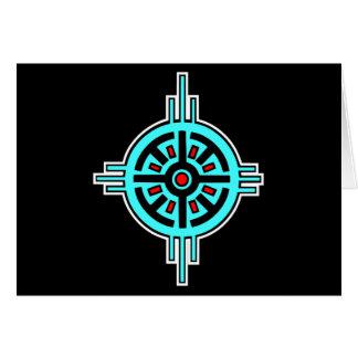 Medicine Wheel-Black Card
