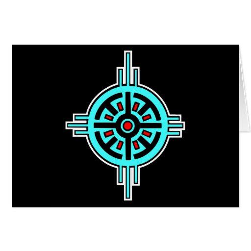 Medicine Wheel-Black Greeting Card
