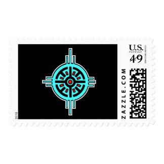 Medicine Wheel-Black Postage Stamps