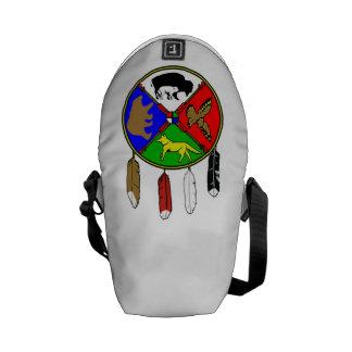 Medicine Wheel White Buffalo Woman Courier Bag