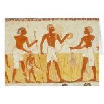Medición de la tierra usando cuerda tarjeta de felicitación