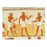 Medición de la tierra usando cuerda tarjeta postal