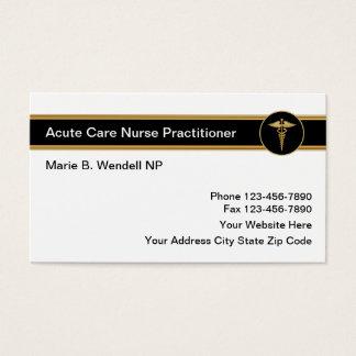 Médico agudo de la enfermera del cuidado tarjetas de visita