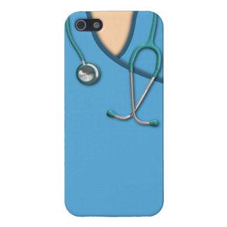Médico azul friega iPhone 5 carcasas