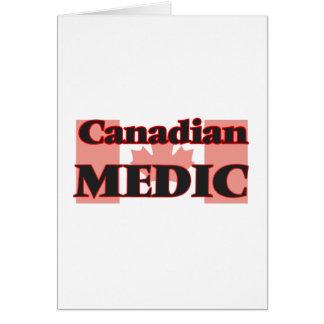 Médico canadiense tarjeta de felicitación