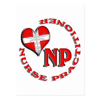MÉDICO CIRCULAR DE LA ENFERMERA DEL LOGOTIPO DE NP POSTALES