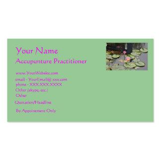 Médico de Accupuncture - plantilla de la tarjeta Tarjetas De Visita