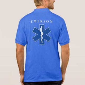 Médico de encargo del nombre EMS/EMT Polos
