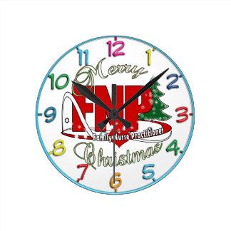 Médico de la enfermera de la familia de las reloj redondo mediano