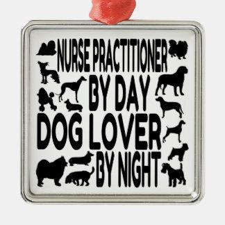 Médico de la enfermera del amante del perro ornamento de navidad