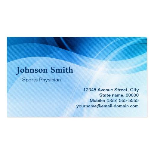 Médico de los deportes - creativo azul moderno tarjetas de negocios