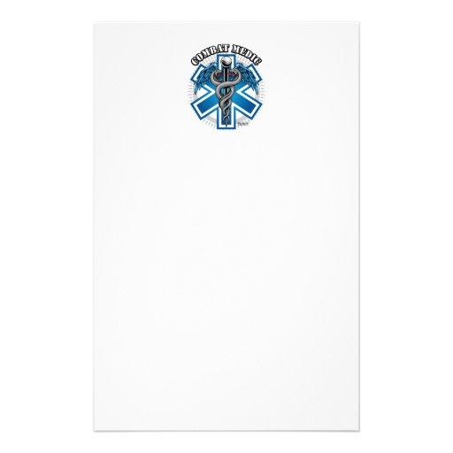 Médico del combate papelería personalizada