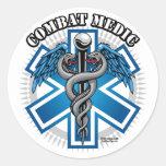 Médico del combate pegatinas redondas